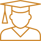 icon of a student with graduation hat